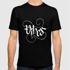 Vibes Black Mens Fitted Tee LARGE