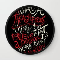 paper towns Wall Clocks featuring Paper Towns- Treacherous by deducktion