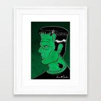 frankenstein Framed Art Prints featuring Frankenstein by JoanaRosaC