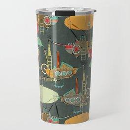 steampunk sky dark Travel Mug