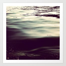 winter waters Art Print
