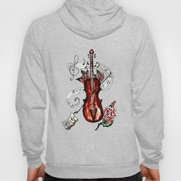 Brown Violin with Notes Hoody
