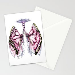 Pink Butterfly Lungs Stationery Cards