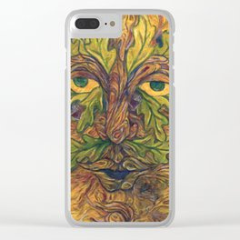 The Greenman II Clear iPhone Case