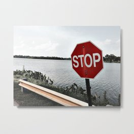 Iterations of a Stop Sign #1 Metal Print