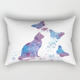 Colorful Cat Art Rectangular Pillow