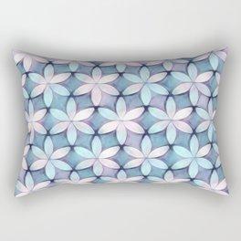Daisies Aqua White Rectangular Pillow