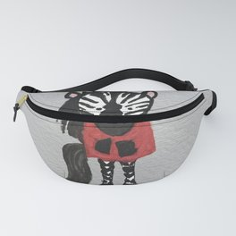 Zebra Jungle Friends Baby Animal Water Color Fanny Pack