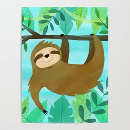 Cute Sloth Poster