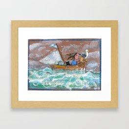 Tea time at Sea Framed Art Print