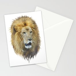 lion head watercolor Stationery Cards