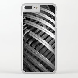 Night Palm Clear iPhone Case