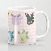 sylveon Mugs featuring Eevee Evolutions by Nozubozu