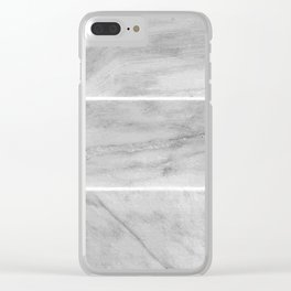 Granite Gray Slabs Clear iPhone Case