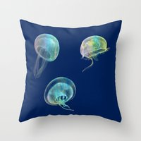 jellyfish Throw Pillows featuring Jellyfish by Vitta