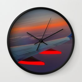 On the Wing of a Sunset Wall Clock
