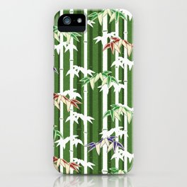 Vintage oriental Bamboo pattern iPhone Case