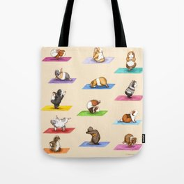 The Yoguineas - Yoga Guinea Pigs - Namast-hay! Tote Bag
