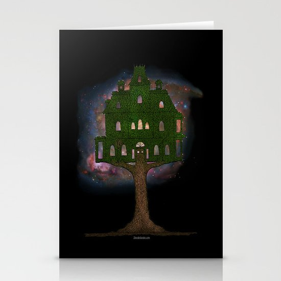 Cosmos Tree House Stationery Cards