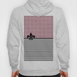 Pastel pink - Dots and Lines Hoody