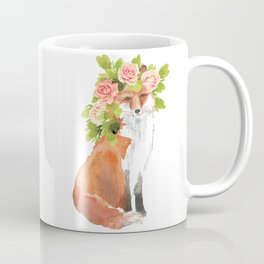 fox with flower crown Coffee Mug