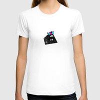 bill cipher T-shirts featuring Flower Crown Bill Cipher by desmormos