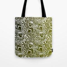 Theta Print-Black & Gold Tote Bag
