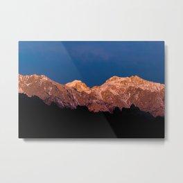 Sierra Crest Alpenglow Metal Print