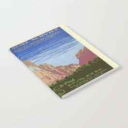 Vintage poster - Zion National Park Notebook