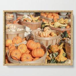 Pumpkins at the Farmers Market Serving Tray