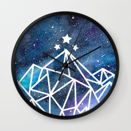 Watercolor galaxy Night Court - ACOTAR inspired Wall Clock