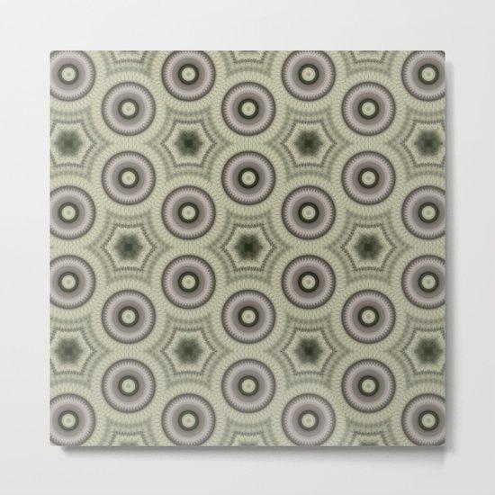 Fractal Cogs n Wheels in CMR03 Metal Print