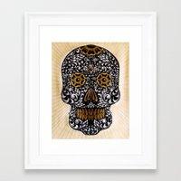calavera Framed Art Prints featuring CALAVERA by Nick Potash