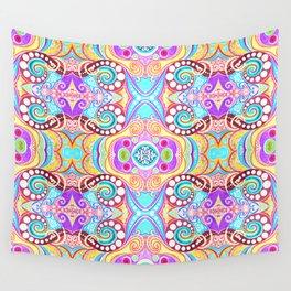 Light Blue Symmetry Wall Tapestry