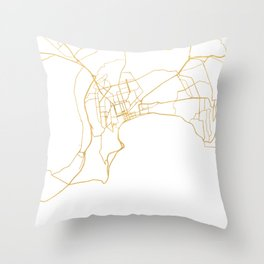 BAKU AZERBAIJAN CITY STREET MAP ART Throw Pillow