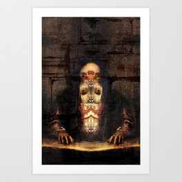 Self-portrait as Abomination (After Titian) Art Print