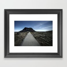 craters of the moon. Framed Art Print