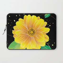 Helianthus Midnight - The Color of Vitality, Intelligence, and Happiness Laptop Sleeve