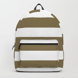 Gold Fusion -  solid color - white stripes pattern Backpack