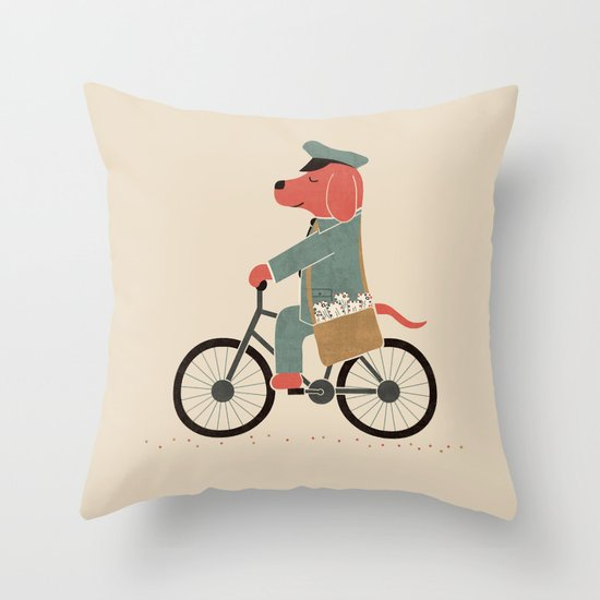 Postdog Throw Pillow