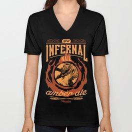 Infernal Nail Amber Ale | FFXIV Unisex V-Neck