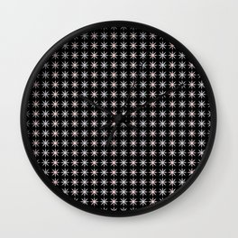 Vintage Sun Shine Pattern - Pink Grey Black Wall Clock