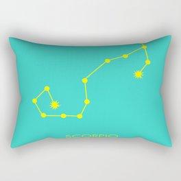 SCORPIO (YELLOW-TURQUOISE STAR SIGN) Rectangular Pillow
