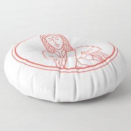 Namaste  Icon Floor Pillow