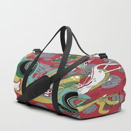 get in the car, we're goin' for a ride! Duffle Bag
