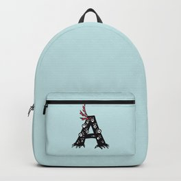 Letter A Funny Character Drawing Backpack