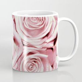 Beautiful bed of pink roses -Floral Rose Flowers Coffee Mug