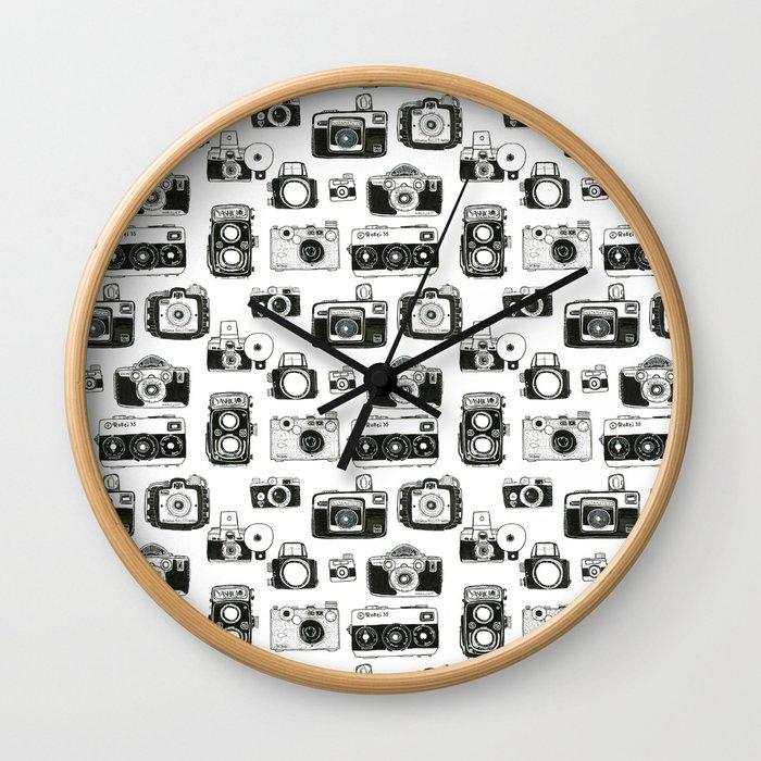 Vintage Cameras Wall Clock