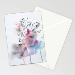 Colorful Rorschach Leaf Stamp Stationery Cards
