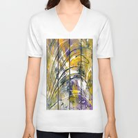 kandinsky V-neck T-shirts featuring Abstract 26 by Har8
